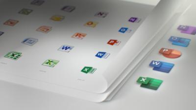 Novos ícones do Office. Foto: Microsoft